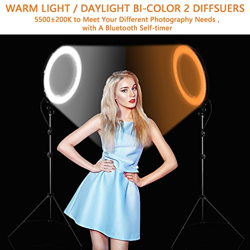18 Inch Led Ring Light Kit Fositan 18 Inches 48cm Outer