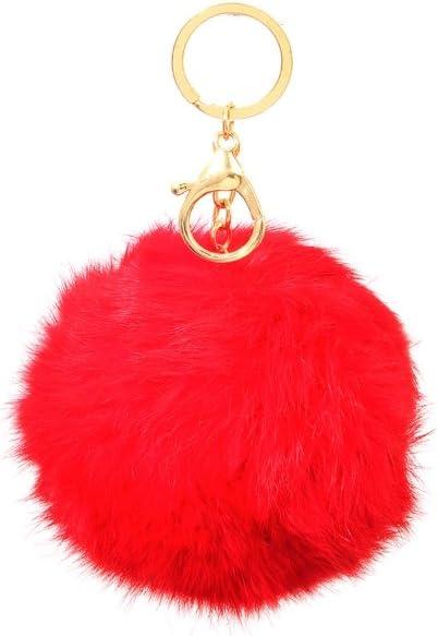 Pomeranian Keychain Enamel Charm Red Pom