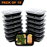 [15 Pack] FreshPREP Meal Prep Containers, Bento Boxes, Lunch Box or Prep Box ...