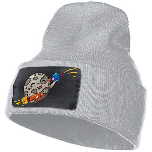 Knit Skull Caps Rich Cotton Earth and Rocket Ship Beanie Caps Warm Soft Hats