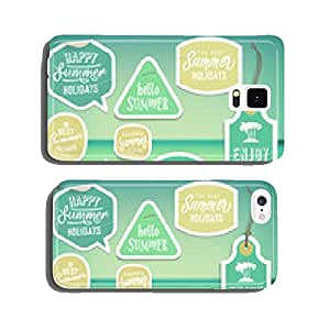 Summer holiday vacation stickers and labels cell phone cover case Samsung S6