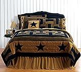 9pc Delaware Black Star FULL/QUEEN Quilt Set, 2 Shams, Pillow Cases, Pillows