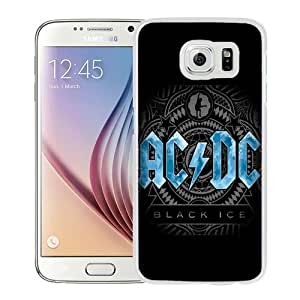 Fashion Custom Designed Cover Case For Samsung Galaxy S6 Phone Case With AC DC Black Ice_White Phone Case
