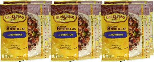 Old El Paso Burritos Shells 8 ct 11 oz Bag (pack of 6)