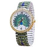 joyliveCY Women Steel Watch Vintage Casual Watch Skull Peacock Owl Watch Female Dress Wristwatch