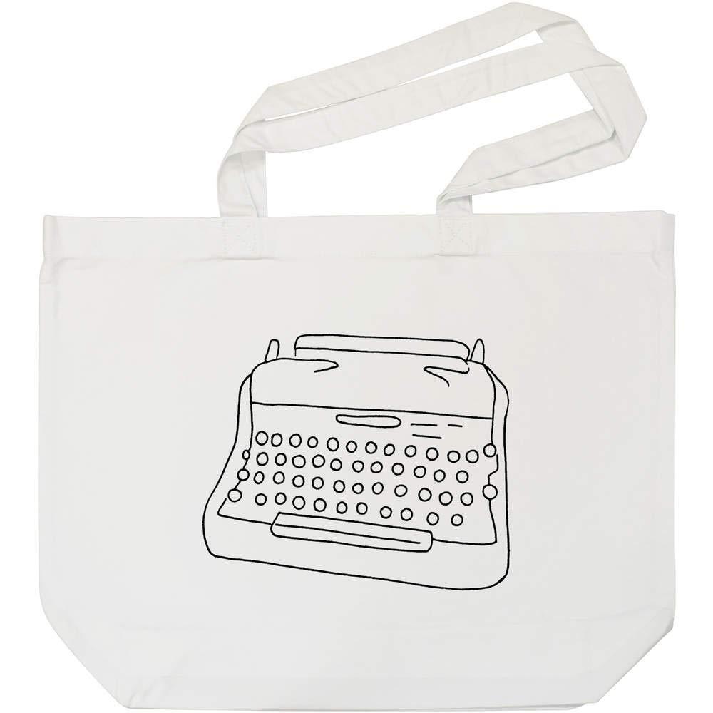 Azeeda Máquina de Escribir Bolso de Compras Blanco (BG00005775): Amazon.es: Juguetes y juegos