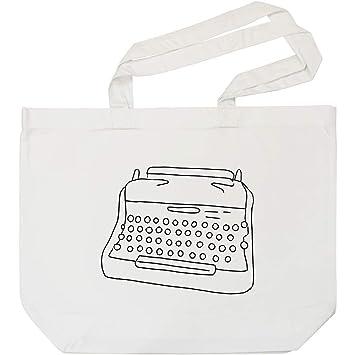 Azeeda Máquina de Escribir Bolso de Compras Blanco (BG00005775)