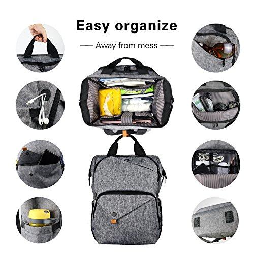 Hap Tim Laptop Backpack 15.6/14/13.3 Inch Laptop Bag Travel Backpack for Women/Men Waterproof School Computer Bag Large Capacity Bookbag for College/Travel/Business (7651US-G) by Hap Tim (Image #1)