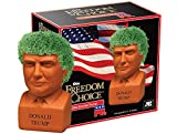 The original Pottery Planter that grows a green coat! Freedom of Choice Chia Donald Trump. Contains: handmade pottery planter; Chia seed packet for 3 plantings; convenient plastic drip tray; planting and care instructions.
