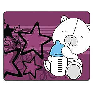 Liili Mouse Pad Natural Rubber Mousepad IMAGE ID: 10569687 polar teddy bear baby cartoon background in vector format
