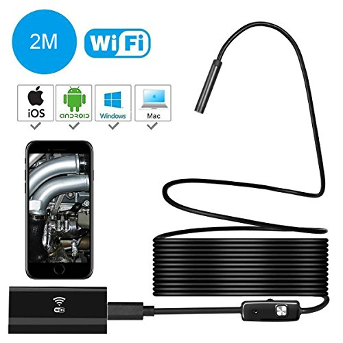 Wireless Endoscope,EFUTONPRO WiFi Borescope Waterproof Snake Inspection Camera 2.0MP 720P HD Cam...