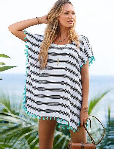 skt-swimwear New Style Sommer Strand Kleid Cardigan Chiffon Badeanzug gestreift Beach Cover up Badeanzug Frauen Hot Sale Beachwear