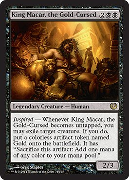 Magic: the Gathering - King Macar, the Gold-Cursed (74/165) - Journey into Nyx