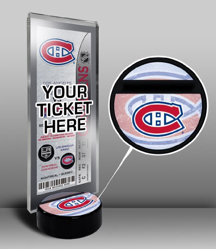 Montreal Canadiens Tickets (NHL Montreal Canadiens Hockey Puck Ticket Display Stand, One Size, Multicolored)