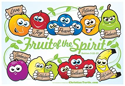 amazon com christian poster fruit of the spirit 19 x13 office rh amazon com fruit of the spirit clip art free fruit of the spirit clipart free