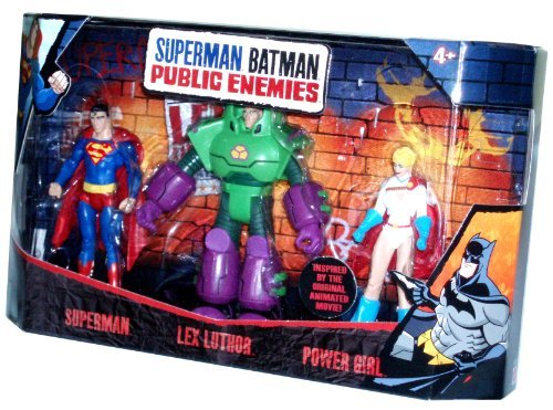 DC Comics Superman Batman Public Enemies Series 3 Pack 4 Inch Tall Action Fig...