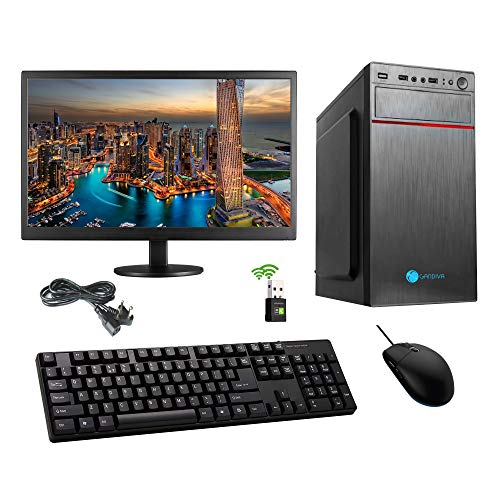 Nallu Assembled Desktop    Core i3 1st Gen Processor / H55 Motherboard / 4  GB RAM / 1 TB HDD/DVD RW/WiFi Dongle / 18.5 inch LED Monitor  with Pre Inst