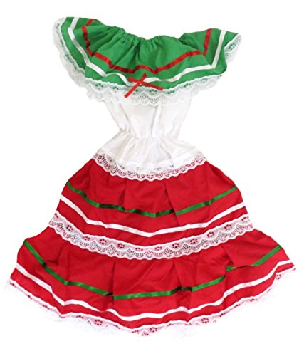 (Leos Imports (TM) Girls Mexico Dress (10, Red))