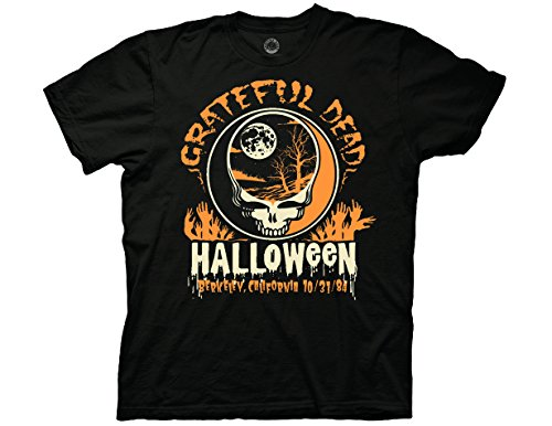 Ripple Junction Grateful Dead Adult Unisex Halloween Light Weight 100% Cotton Crew T-Shirt MD Black -