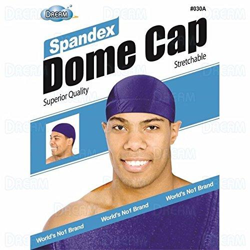 ((PACK OF 6) DREAM MENS DOME CAP SPANDEX #ASSORT)