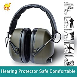 STRONG CAMEL Green Electronic Stereo Hearing Ear Protector Earmuff Protection