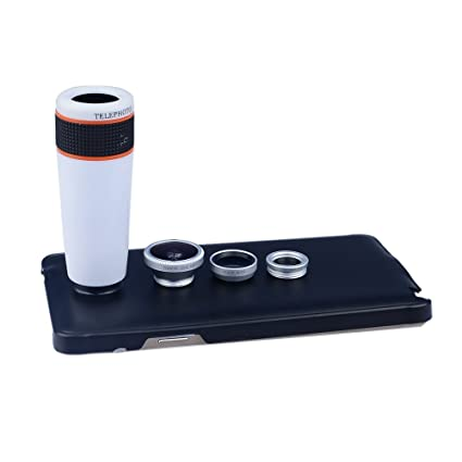 Apexel Samsung Galaxy Note 4 Camera Lens Kit including 12x ABS Telephoto  Lens/ Wide Angle Lens/ Macro Lens /Fisheye Lens / Back Case Cover for  Samsung
