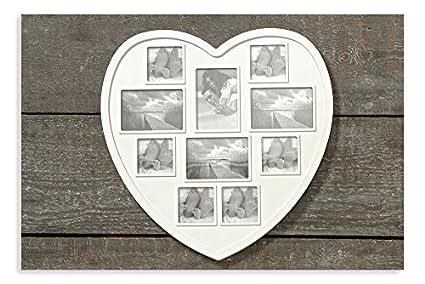 Marco Love corazón, para 10 Fotos - imágenes de corazón blanco: Amazon.es: Hogar