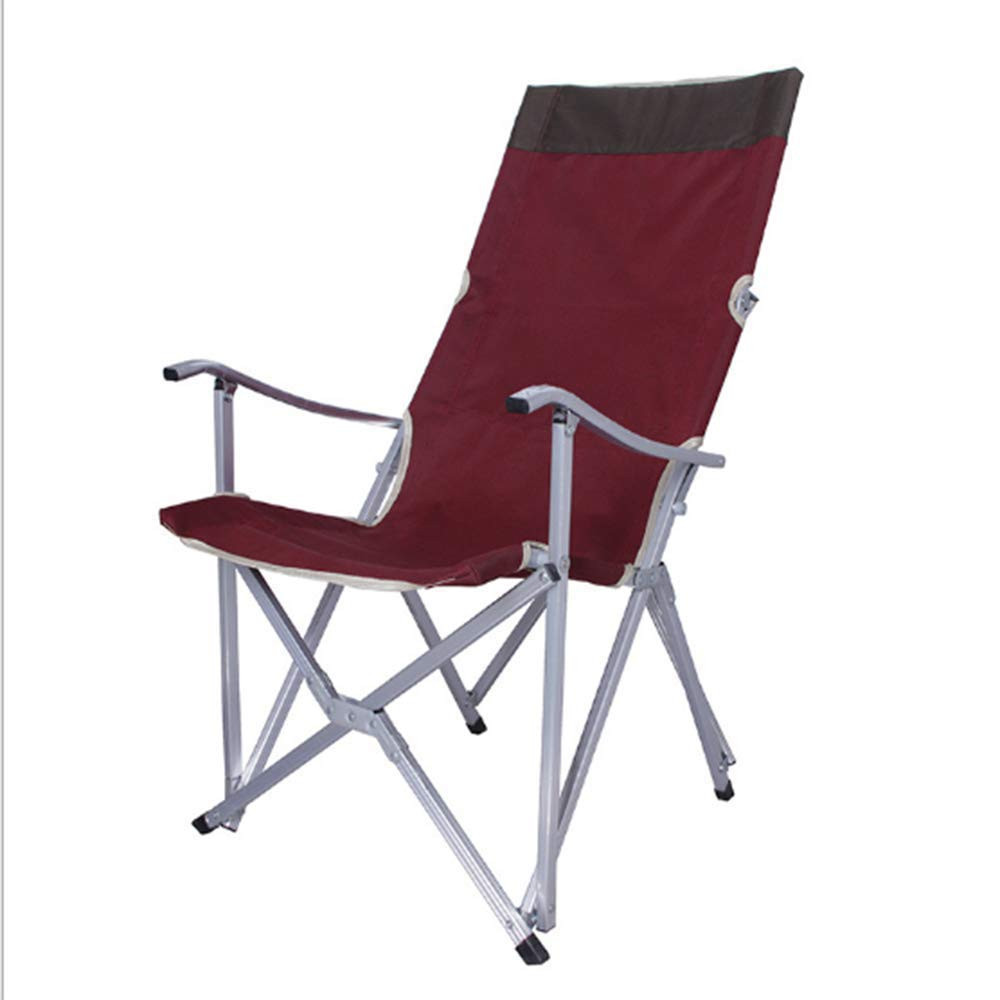 ZHANGJN Outdoor Folding Camp Chairs Ultralight Portable Fishing Chairs Comfortable with Armrest for Festival, Beach, Hiking-Redwine by ZHANGJN
