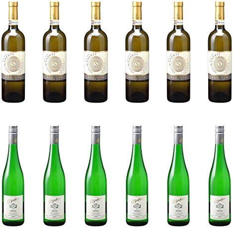 [ 12本 まとめ買い ワイン 飲み比べ ] 2018年 ガヴィ デル コムーネ ディ ガヴィ ブリク サッシ (アジエンダ アグリコーラ ロベルト サロット) 750ml と 2018年 バルテン リースリング クーベーアー (トーマス バルテン) 750ml ワインセット