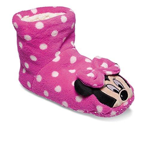 SAMs Disney Minnie Maus Tier Hausschuhe Pantoffel Schlappen Kuscheltier Plüsch Mädchen Rosa M-L, TH-Minnie-Soro Rosa