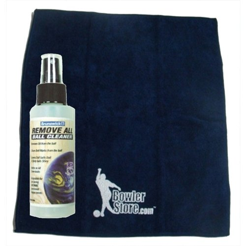 Bowlerstore Remove All Bowling Ball Cleaner and Micro Fiber Towel Package by Brunswick Bowling Products