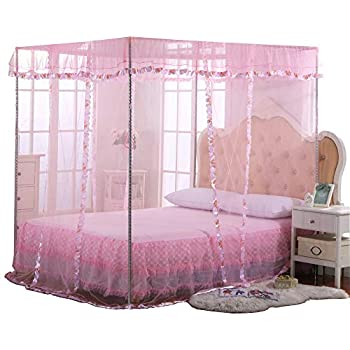 Uozzi bedding 4 corners post pink canopy bed - Bed canopies for adults ...