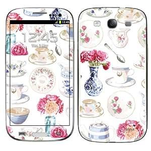 Diabloskinz B0079-0075-0003 - Carcasa de vinilo para Samsung Galaxy S3, diseño de vajilla