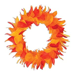 Beistle 57903-GGP Feather Wreath 10