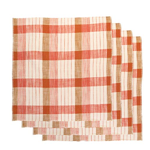 tag (4 Pack Cloth Napkins: Soft Cotton 20 Inch 4 Napkins Set for Dinner Napkins, Table Napkins, Home Decor with Garden Blossom Print