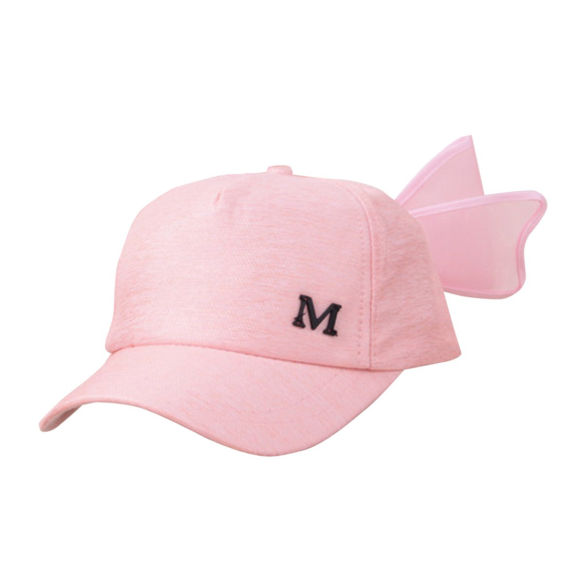 85a9adbb26439 Amazon.com   SEADEAR Lovely Bowknot Children s Baseball Cap Summer Baby  Shade Cap Beach Sun Visor Hat for Kids girls(Black)   Sports   Outdoors