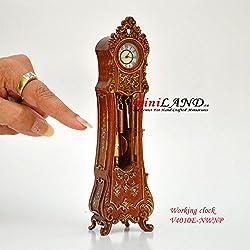 Working Dollhouse Miniature Grandfather Clock White V4010E-WNG 1:12 scale