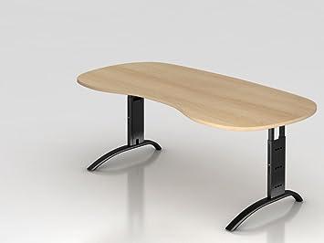 Rein c table de pied 200 x 100 cm chêne noir: amazon.fr