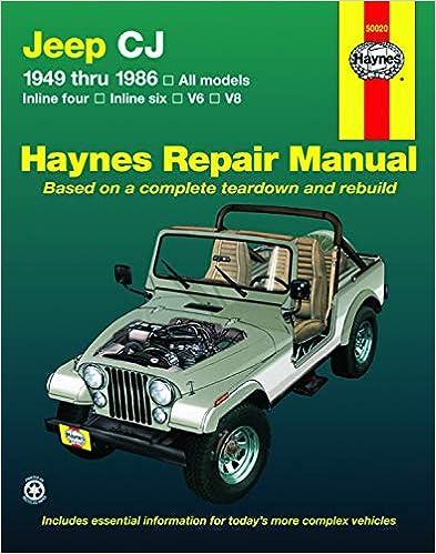 jeep repair diagrams jeep cj  scrambler  renegade laredo   golden eagle  49 86  haynes  jeep cj  scrambler  renegade laredo
