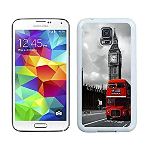 For Samsung Galaxy S5,100% Brand New London Red Bus White For Samsung Galaxy S5 i9600 Case