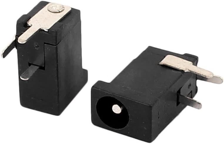 2.1mm x 5.5mm DULALA 5 pcs connecteur Femelle Prise dalimentation Jack 3 Broches Noir