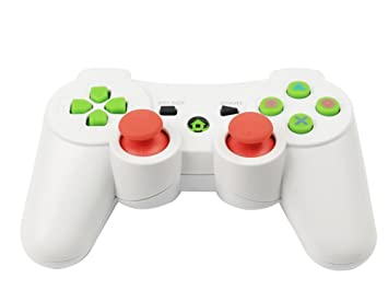 Vicstar Mando de Juego inalámbrico con Doble vibración para PS3 Playstation, Mando Controlador Joystick de