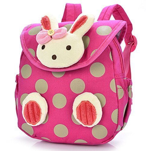 Pumud Baby Toddler Child Kid 3D Cartoon Backpack Schoolbag Shoulder Bags (Hot Pink)
