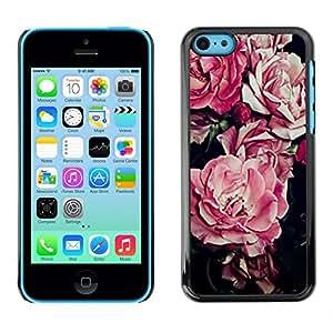 SKCASE Center / Funda Carcasa - Flor Diseño floral Negro;;;;;;;; - iPhone 5C