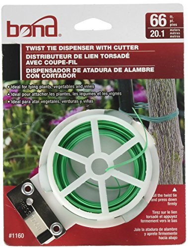 - 2 Boom Bond Spool of Garden Twist Tie, 66', Green