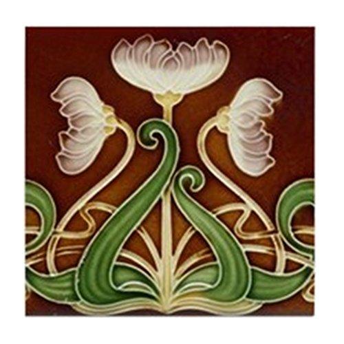CafePress - Art Nouveau Majolica Tile 1905 - Tile Coaster, Drink Coaster, Small Trivet