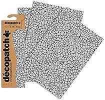 3 Unidades Decopatch Papel Decorativo dise/ño de Piel de Reptil Skin 395 x 298 mm Blanco
