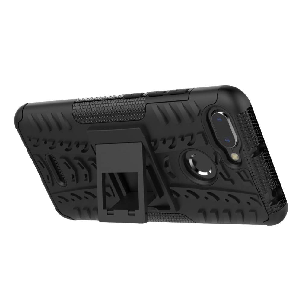 Xiaomi Redmi 6 6A Cover Hybrid DWaybox Rugged Heavy Duty Armor Hard Back Cover Case with Kickstand for Xiaomi Redmi 6/Redmi 6A 5.45 Inch (Black)