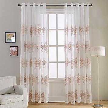 top finel piezas bordado modernas visillos para ventanas cortinas dormitorio con ojales x