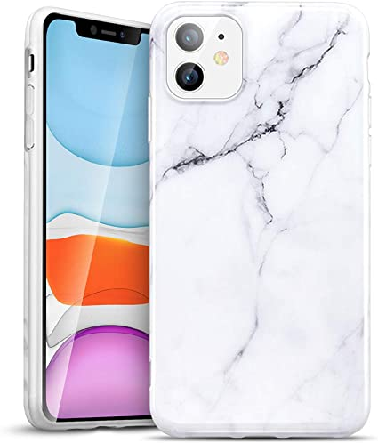 ESR Marble Designed for iPhone 11 Case, Slim Soft Flexible TPU, Marble-Pattern Cover for iPhone 11 6.1(2019 Release), White Sierra